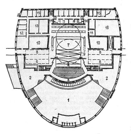 План здания театра юного