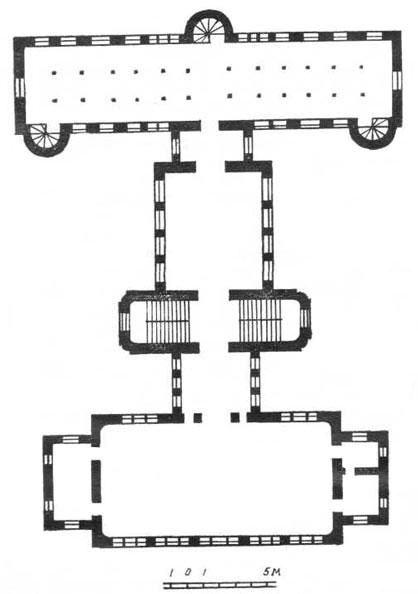 План здания научной библиотеки