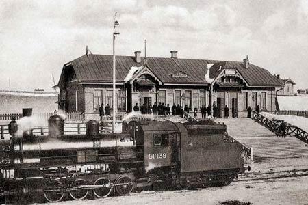 Вокзал железнодорожной станции Алтайская. 1912 г