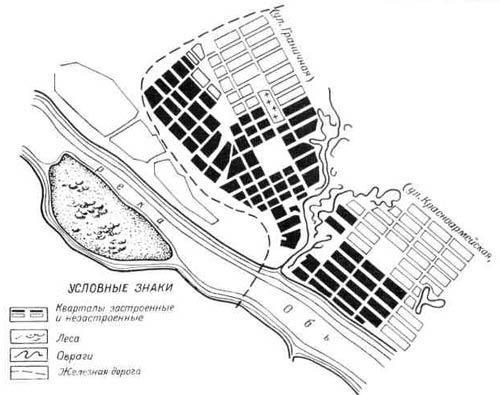 План Ново-Николаевска в 1906