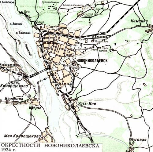 Генеральный план Новосибирска