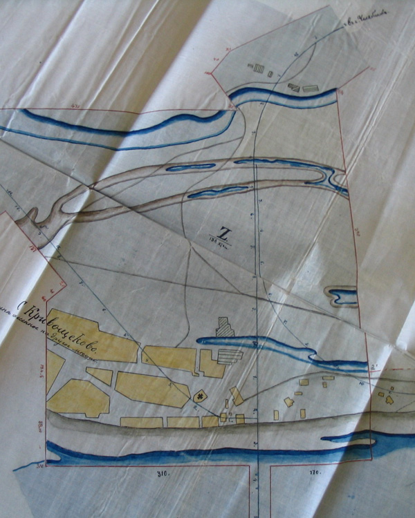 План отчуждения земель при строительстве железнодорожного моста через Обь
