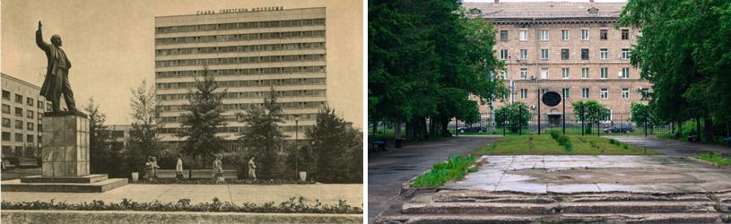 Памятник В.И. Ленину перед вторым корпусом НЭТИ/НГТУ. Новосибирск