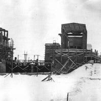 Строительство судоходного шлюза новосибирского гидроузла